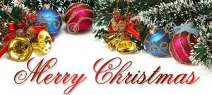 Merry Christmas ornament banner
